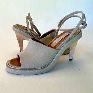 STELLA McCARTNEY Vegan Suede and Wood heels